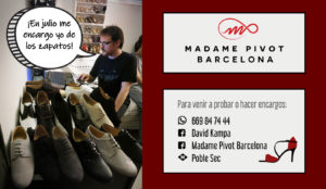 Zapatos de Tango Madame Pivot Barcelona
